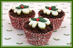 Boozy fruit cupcakes (Victorious Cupcakes) Tags: christmas cupcakes pudding holly recipes christmaspudding victorious goodtoknow fruitcupcakes christmaspuddingcupcakes victoriouscupcakes