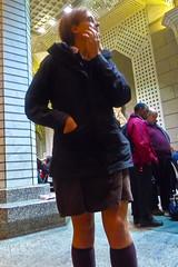 20111122-P1080379 (akatzphoto) Tags: kneesocks skirt knees legs occupywallstreet zuccottipark libertypark financialdistrict protest activist activism occupation expulsion night nyc newyorkcity manhattan mtastation 60wallstreet rain autumn 2011 people street cops militant men women meetings