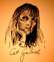 Portrait Cat Gabriel (Sketchmanni) Tags: party portrait pencil ink sketch julia drawing emma kay sketchbook doodle manuel bild tinte scribble bleistift grote moleskin zeichnung manni jkpp moeskinerie