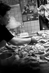 Street Food (robktkate) Tags: street city travel vacation people urban blackandwhite food monochrome photography photo nikon photos candid taiwan taipei nikon1855mm d5000 nikond5000