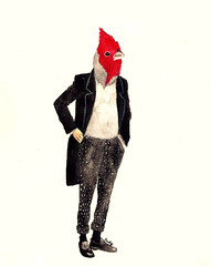 * (Daniela Dahf Henrquez) Tags: bird fashion acuarela pjaro ilustracin elegante inspiracin danielahenrquez dahf