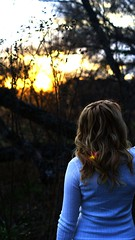 (TylerMurrayPhotography) Tags: trees sunset woman sun white nature girl lens sweater branch dusk sony teen blonde flare alpha 18 a230
