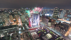 Cavalcade of Heights (tomms) Tags: show toronto night fireworks cityhall skating scotiabank nathanphillipssquare cavalcadeoflights rooftopping