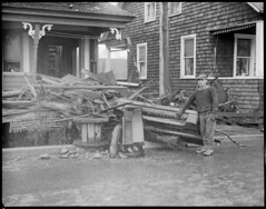 Colebrook, N.H. flood. (Boston Public Library) Tags: weather storms floods lesliejones