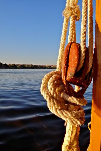 Felucca on Nile River, Egypt