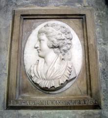 Bath Abbey, Somerset (pefkosmad) Tags: uk england detail plaque bath memorial head somerset bathabbey elizabethwinckley
