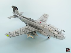EA-6B Prowler of VAQ-141 Shadowhawks (1) (Mad physicist) Tags: lego ea6b prowler aircraft grumman us navy cvw8 military