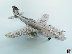 EA-6B Prowler of VAQ-141 Shadowhawks (1) (Mad physicist) Tags: lego ea6b prowler aircraft grumman us navy cvw8 military