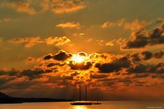 Ancora estate (GiaLP) Tags: sunset sea sky landscape boats barche sicily sicilia paesaggio sailingboats cefal barcheavela d5000