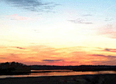 New Hampshire Sunset (Digitally Modified Photo) (randubnick) Tags: art photography photograph painter cutandpaste digitallymodified digitalpastel