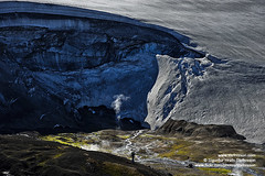 Fjallabak shs_n3_082469 (Stefnisson) Tags: summer hot ice landscape iceland spring tourist tourists steam springs area hiker hikers geothermal sland gufa hver jkull fjallabakslei ljsmyndari hverir feramaur gngumaur tristar fjallabak tristi hverasvi feramenn gnguflk stefnisson nirri