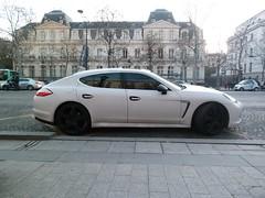 white paris cars porsche supercar matte sportscars supercars streetcars panamera worldcars
