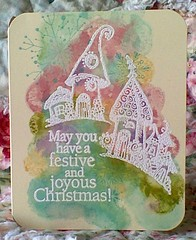 purnimaStorybookWinterHomesPastel (entwoman) Tags: snowflake christmas winter holiday stain village card distress storybook heroarts resist inkadinkado stampington