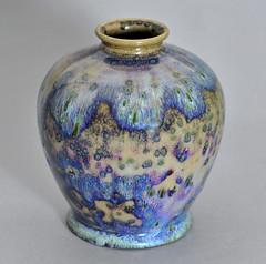 Ruskin high fired vase, 1914 (robmcrorie) Tags: ceramic design pot glaze pottery 1914 ruskin oldbury artsandcrafts flambe artscrafts highfired tocky williamhowsontaylor