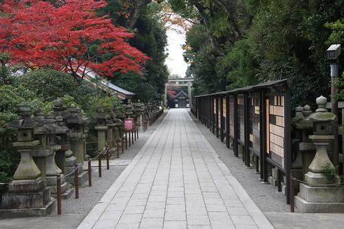 京都の秋(石清水八幡宮)