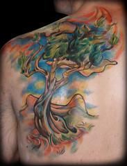 Van Gogh inspired olive tree (Mez Love) Tags: sanfrancisco sky painterly tree tattoos vangogh olivegrove olivetree vincentvangogh mezlove tattooboogaloo