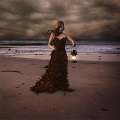the keeper of keys (brookeshaden) Tags: storm beach keys dusk surrealism layers lantern searching fineartphotography skeletonkeys brookeshaden