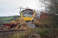 Train Crash (Ceasar2011) Tags: lines wales train nikon crash rail lorry trucks hay crashes carmarthen whitland d5100