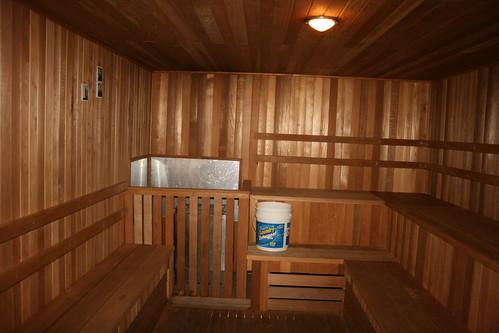 Sauna in the underground health spa
