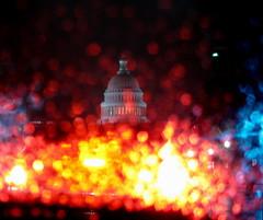 Capitol in the Rain (jleathers) Tags: rain night washingtondc dc washington uscapitol capitol nationalmall stoplight