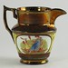 336. Lusterware Pitcher
