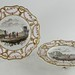 366. Hand Painted Reticulated Footed Plates