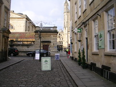 bath162 (southglosguy1982) Tags: city windows decorations sky signs cars abbey buildings bath december lamppost cobbles romanbaths romansoldier variouspeople whatsnottolike