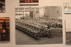 Extensive display cards used using period publicity photos. (kenbutterfield) Tags: japan exhibition moulton