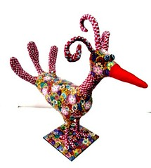 bird (**mira pinki krispil-colors of life ***) Tags: sculpture bird art animal handmade fimo clay pinki polymer        mirakris