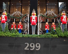 POPS091: Holiday Display at 299 Park Avenue - UBS Building, Midtown Manhattan, New York City (jag9889) Tags: street plaza city nyc ny newyork building tower public architecture publicspace office manhattan space bank midtown owned area 1967 resolution pops 91 concession westvaco ubs popos 2011 variance privatelyownedpublicspace privately y2011 jag9889 299parkavenue zoningnutcrackerholidaychristmasdisplay