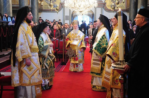 His All-Holiness presides over the Divine Liturgy on the great Feast of the Lord & Nativity at the Patriarchal Church of St. George