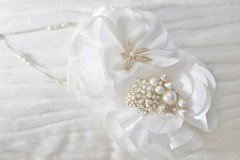 Fresh Water Pearls with White Rose Flowers and Vintage faux pearl Cluster including Starfish Brooch (Salvato.Collection) Tags: flowers blue ladies white water rose japan metal vintage necklace pin with dress crystal starfish handmade cluster bib brooch earring fresh pearls retro chain bow aurora faux bead pearl jewlery custom rhinestone couture beading beaded including accessory highend salvato fashionwomen salvatocollection
