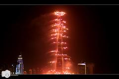 Fireworks at Burj Khalifa 1 (Umar Saleem) Tags: new dubai year khalifa 2012 burj