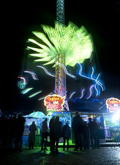 A r o u n d   T h e   W o r l d (ƇĦŘĺς ΛΨŁЩΛŘĐ ƤĦŎŦŎƓƦΛƤĦϔ) Tags: world winter wales lights long exposure ride south cardiff around wonderland coaster hdcymru