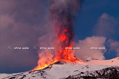 Lava Vs Snow - Etna,19 Parossismo (Marco Restivo) Tags: show travel red italy tourism yellow fire volcano lava rocks warm italia desert milo smoke steam ash sicily lightning geology burst etna pouring eruption catania paesaggio excursion magma 2012 volcan sfondo mountetna 2011 colata lapilli eruzione paroxysm valledelbove zafferana fornazzo naturebreath 5gennaio2012
