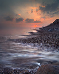 West Bay (peterspencer49) Tags: uk longexposure sunset southwest coast unitedkingdom pebbles dorset oceanview coastalpath westcountry westbay southwestcoast jurassiccoast dorsetcoast southwestcoastalpath stunningview 5dmkll peterspencer stunningseascape peterspencer49