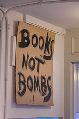 Books Not Bombs: City Lights Books in San Francisco (CT Young) Tags: sf sanfrancisco california bookstore northbeach bayarea bookshop beats citylightsbooks columbusstreet sanfrancisconorthbeach canonefs1785mmf456isusm christmas2011