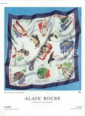 Alain Roure (paperdollgirls) Tags: paris scarf silk 1947 frenchvogue alainroure