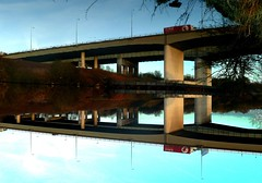 Thelwall Reflections (PaulEBennett) Tags: reflection warrington viaduct thelwall