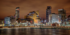 Liverpool albert dock view night (Tee Time Tony) Tags: uk england night liverpool three dock long exposure shot albert hdr urbanscape scouser dockthe headalbert liverpoolmerseysidebirkenheadpier graceswaternightrainriver