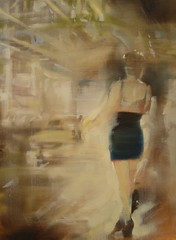 Under the El (GreggChadwick) Tags: life light chicago color colour art beauty painting paint poetry gallery sandra time culture lee memory moment painters gregg oilpainting chadwick contemporarypainting speedoflife httpgreggchadwickblogspotcom voluptuous greggchadwick undertheel sandraleegallery