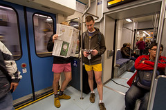 No Pants Light Rail Ride 2012 (Atomic Taco) Tags: city improv emerald nopants soundtransit improveverywhere linklightrail