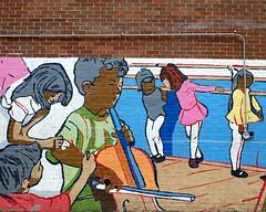 P.S. 153 Adam Clayton Powell Jr. School Mural, Hamilton Heights, New York City (jag9889) Tags: street city nyc school ny newyork west building art public amsterdam