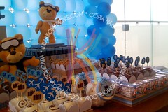 Urso aviador do Rafael (Komemore) Tags: urso chdebeb chdefraldas comemore ursoaviador decoraoclean festaclean komemore festaurso festaazulemarrom festaursoaviador