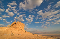 Masada Tower (www.caseyhphoto.com) Tags: world travel vacation holiday building tower history tourism architecture clouds photography design israel casey photo nikon nadia desert image action earth expression palestine westbank middleeast culture photographers dry structure architectural historic wanderlust adventure collection explore architect viajes artists getty civilization desierto geography traveling fotografia visual explorers turismo masada deadsea vacaciones mundo climate holyland travelers structural global gettyimages discover aventura tierra d300 woestijn adventurers historico descubrimiento traveladventure gettyimagescom gettycollection mygearandme nadiacaseyphotography flickrstruereflection1 flickrstruereflection2 wildernessrural