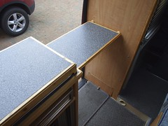 Lift-up flap to extend worktop area (Mudman101) Tags: fiat motorhome ducato