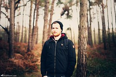 Boy/Forest (Rick Nunn) Tags: trees winter boy man male forest hair bag beard eyes woods rick jacket hoody backpack nunn element canonef50mmf14usm natruallight