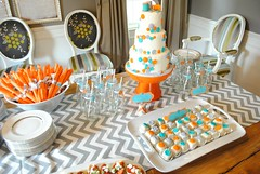 """cute as a button cake with matching cake squares • <a style=""""font-size:0.8em;"""" href=""""http://www.flickr.com/photos/60584691@N02/6715634819/"""" target=""""_blank"""">View on Flickr</a>"""