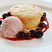 Cream Cheese Poundcake, Strawberry Ice Cream and Vermont Blueberries
