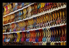 Traditional Indian shoes on sale at Dubai Shopping Festi